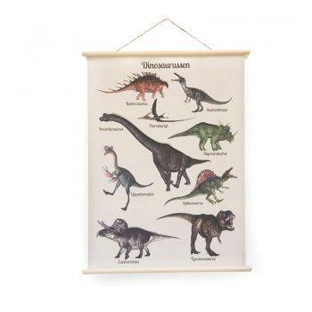 Schoolplaat Dinosaurus