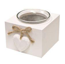 Shabby Chic Heart Tea Light Holder - Wedding Gift Tealight Candle Holder