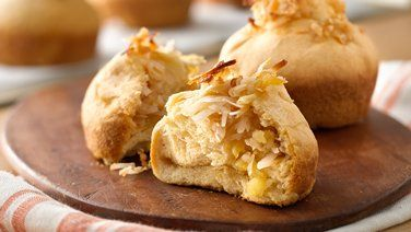 Tropical Honey Butter Breakfast Rolls