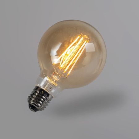 Bombilla filamento LED G95 5W 2200K dorada regulable