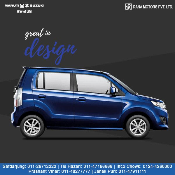 Greatness is found in attention to details. From the stylish alloys, the refined side skirts, to the racy spoiler, the all-new Maruti Suzuki WagonR has been designed with an extraordinary attention to the smallest of details.  Contact Numbers:- Safdarjung: 011-26712222 Prashant Vihar: 011-48277777 Iffco Chowk: 0124-4260000 Tis Hazari: 011-47166666 Janak Puri: 011-47911111  #MarutiSuzuki #WagonR #Car #RanaMotors #NewDelhi #Gurugram