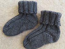 Graue Babysocken Strümpfe Baby Socken 100% Merino