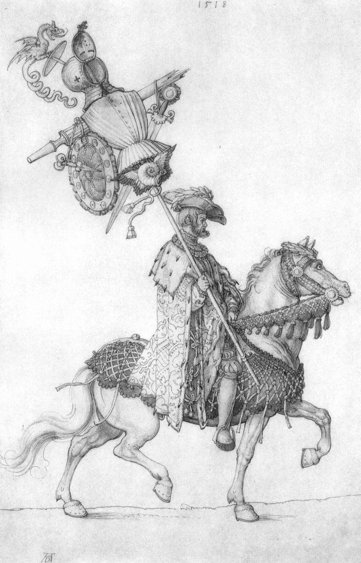 Der große Triumphwagen, Detail- Die welsche Trophäe. Albrecht Durer