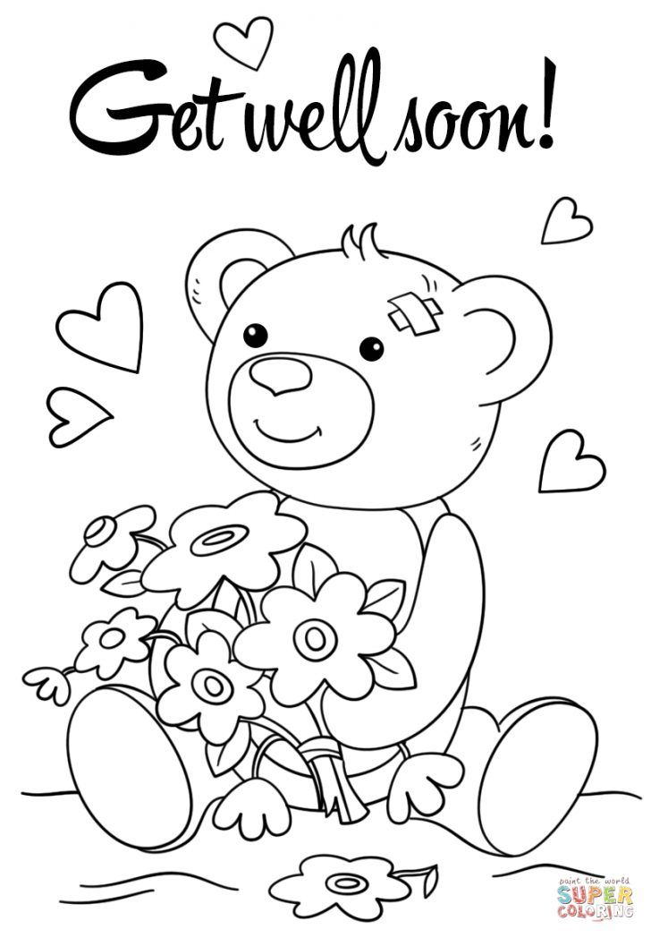 Get Well Soon Coloring Pages Christian