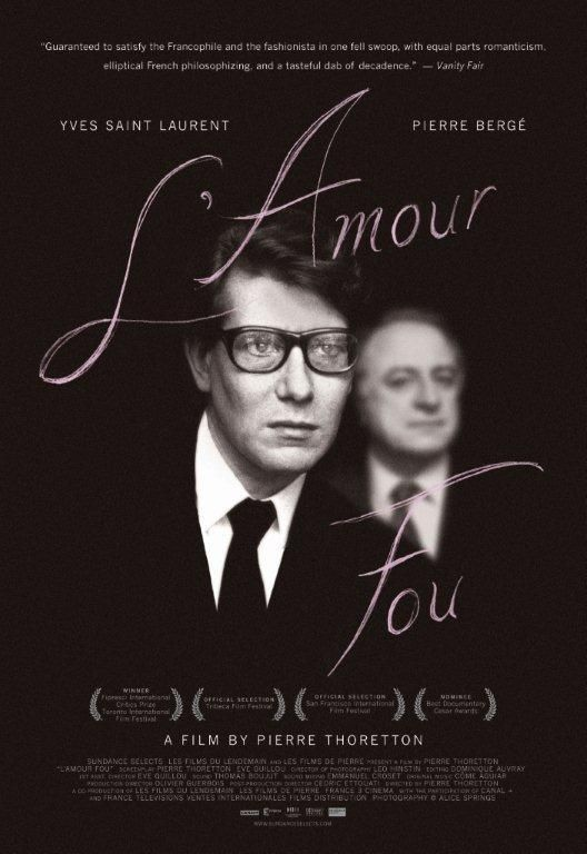 A documentary on the relationship between fashion designer Yves Saint-Laurent and his lover, Pierre Berge.