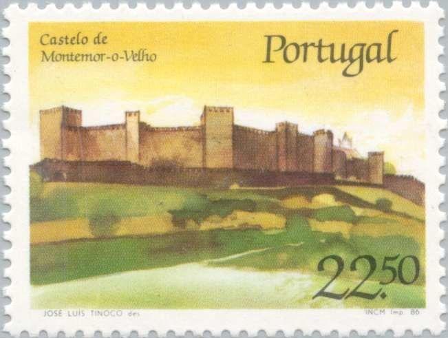 Sello: Montemor-o-Velho Castle (Portugal) (Portuguese Castles and Strongholds) Mi:PT 1700,Sn:PT 1667,Yt:PT 1676,Afi:PT 1776