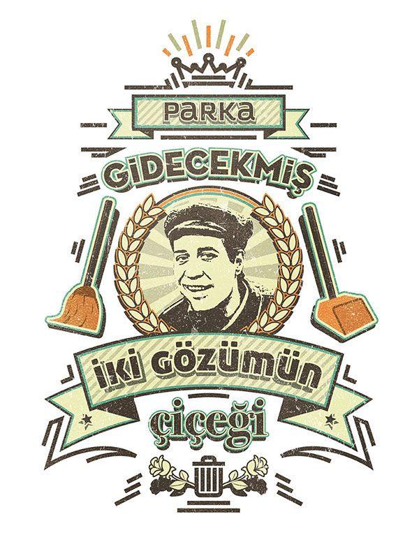 Yeşilçam t-shirt designs for ArtZula.