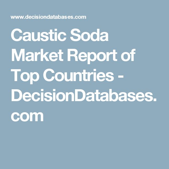 Caustic Soda Market Report of Top Countries - DecisionDatabases.com
