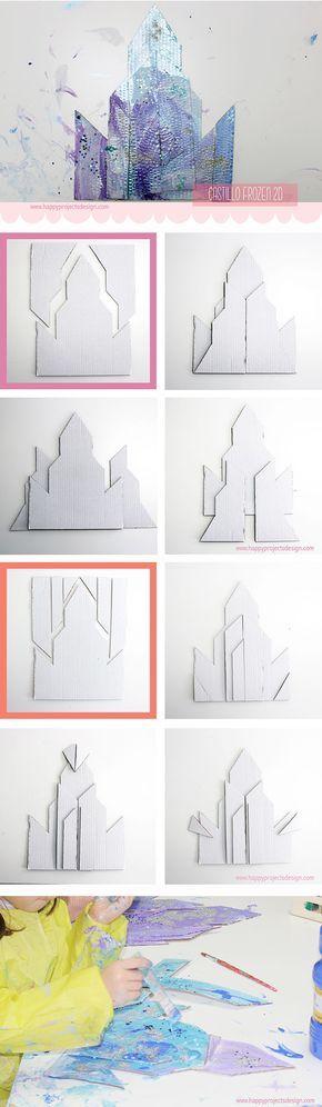 Paso a paso para construir el castillo de hielo de Elsa #Frozen #manualidadeconniños #creakids #happyprojectsdesign