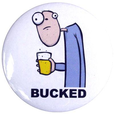 Bucked Bucks Party Badge - White