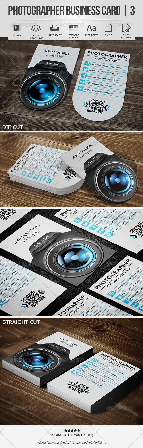 Photographer Business Card | 3 - Industry Specific Business Cards