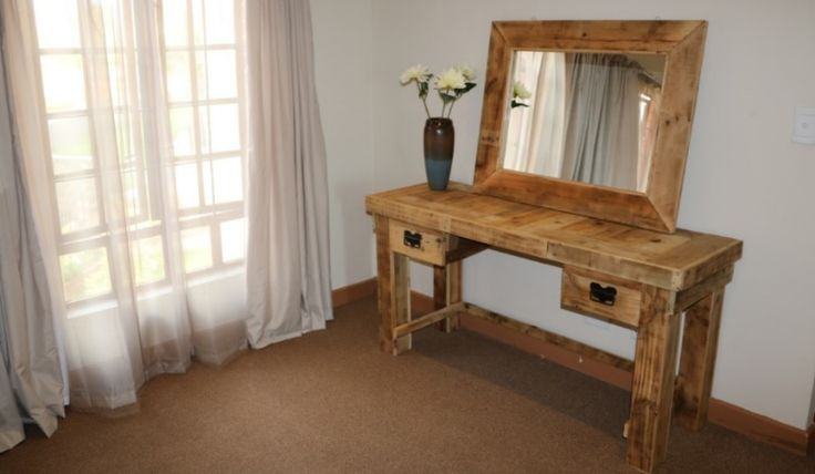 "Tired of thesame old, same old? Explore the popular trend of Pallet Furniture, correction:Creative Wood Creations PALLET FURNITURE!  We provide aremarkable level of quality handmade products made from hand-selected, rawpallet wood. Visit our website www.ccreations.co.za  or facebook page ""ccreations"" for more info!"