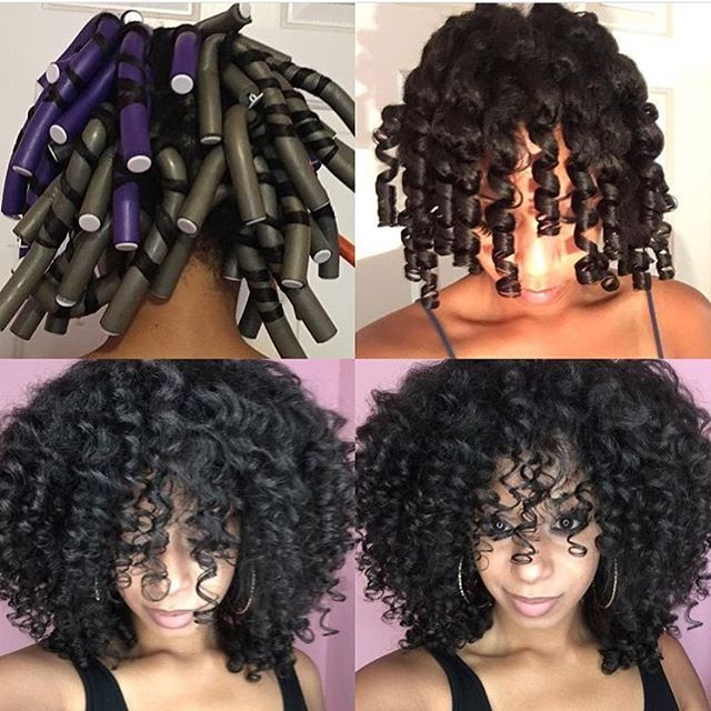 Gorgeous heat free curls  thelovelygrace   flexirods flexirodset bighair voiceofhair ✂️========================== Go to VoiceOfHair.com ========================= Find hairstyles and hair tips! =========================