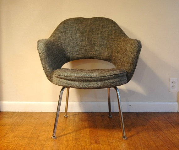 $475 Knoll Executive Chair Designed By Eero Saarinen - Mid Century Modern Armchair by junkhouse: Amazing Chairs, Executive Armchairs, Saarinen Mid, Eero Saarinen, Modern Armchairs, Knoll Executive Chairs, Junkhouse Saarinen, Chairs Design, Saarinen Armchairs