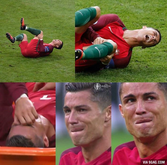 Ronaldo shows how much football means to him, big respect