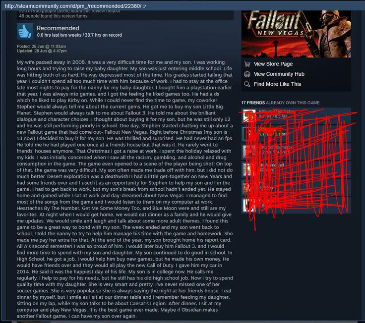 A Beautiful Fallout: New Vegas Review I Stumbled Across