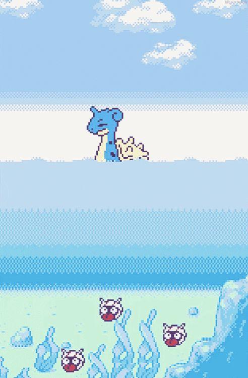 • pokemon pokemon gif my work nostalgia lapras Shellder pokegraphic h0ppip •