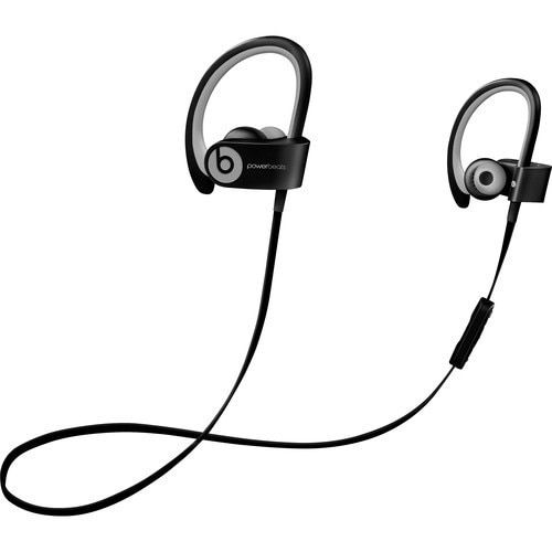 Refurbished Beats by Dr. Dre Powerbeats2 and Grey Wireless Earbud Headphones