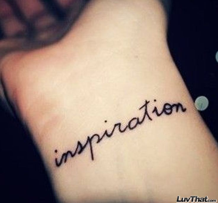 1000 ideas about tattoo inspiration text on pinterest for Inspirational wrist tattoos