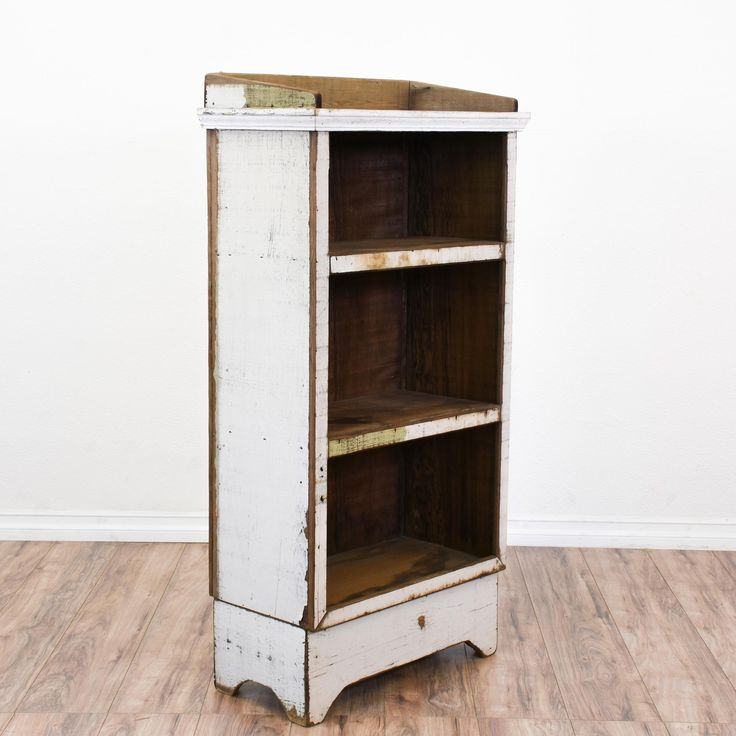 This Shabby Chic Bookcase Is Featured In A Solid Wood With