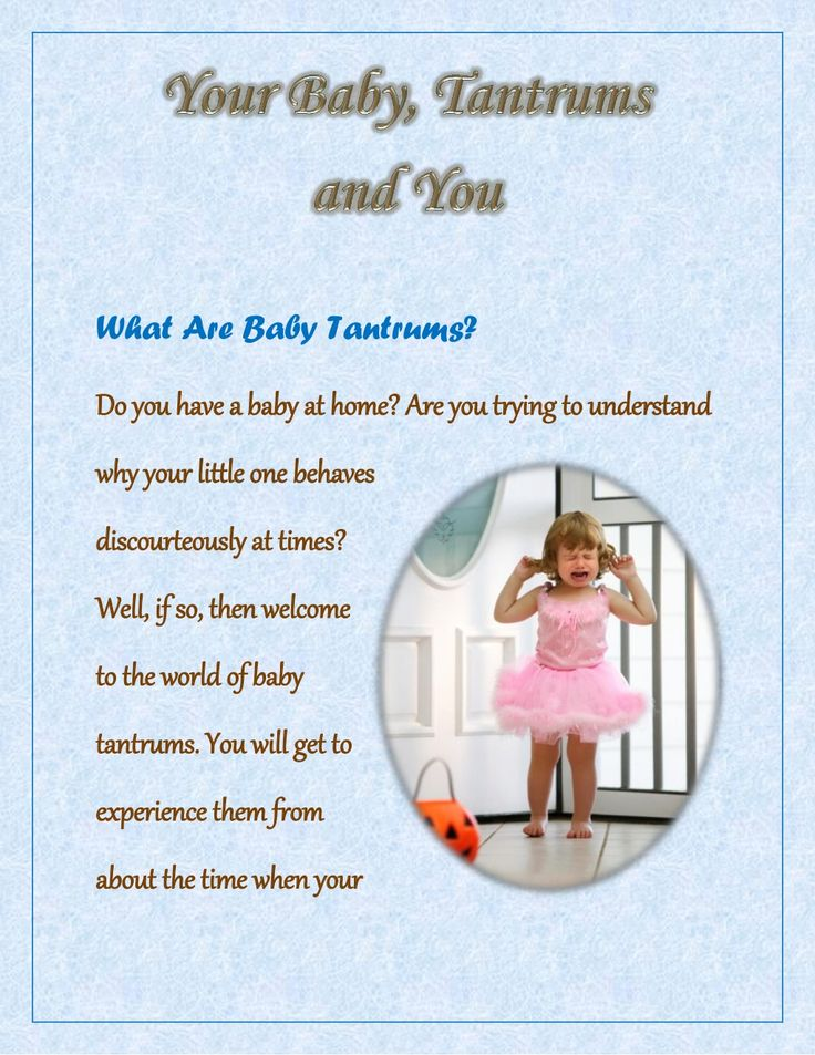 Tips on How to Deal with Baby Tantrums by Mothers' Zone via slideshare