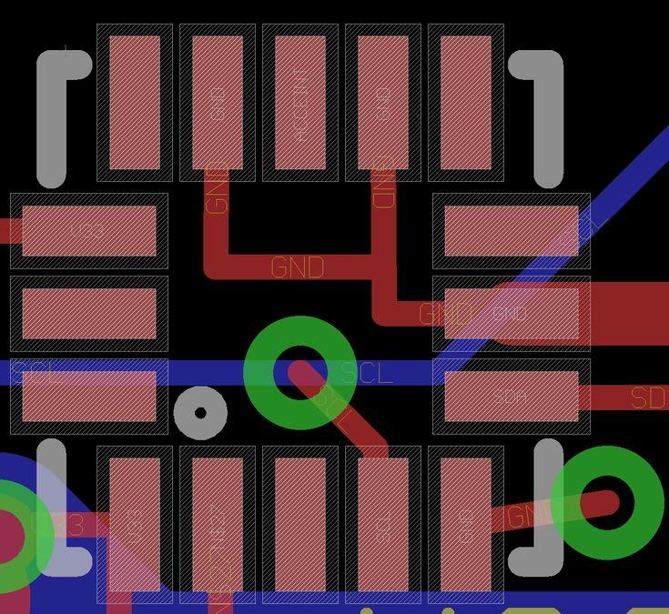 Example Eagle PCB QFN Footprint