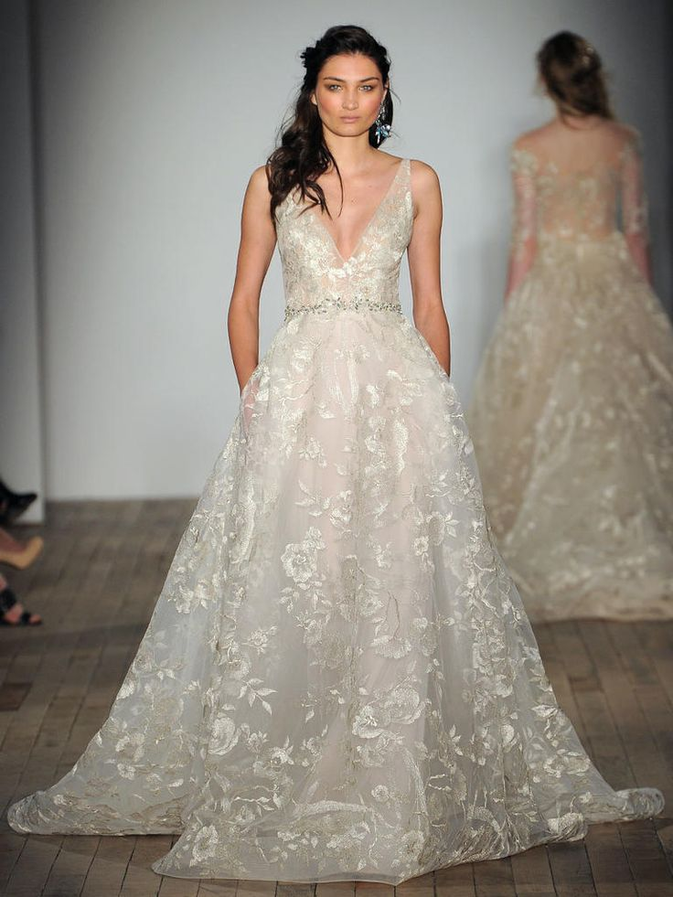 61 best vestidos de novia que me gustan images on for Lazaro a line wedding dress