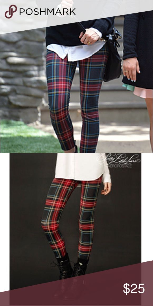 Plaid Leggings (as seen on Spencer from PLL) super cute plaid leggings from the PLL clothing collection. spencer even wore them in an episode! GREAT FOR FALL!! / / worn once, excellent condition Aeropostale Pants Leggings