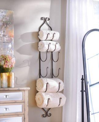 Bronze Metal Hanging Towel / Wine Rack | Kirkland's