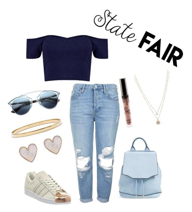 """""""the simple casual and easy state fair outfit"""" by fashionlandfb ❤ liked on Polyvore featuring Topshop, rag & bone, adidas, Christian Dior, Kate Spade, LC Lauren Conrad, New Look, statefair and summerdate"""