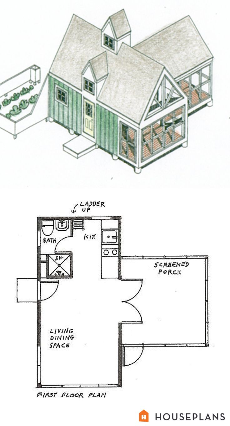 Tiny Panelized Cottage By Lester Walker 200sft 1 Bedroom