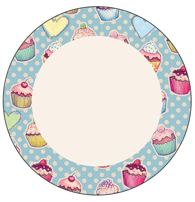 Rótulo Latinhas, Toppers e Tubetes Cupcakes: