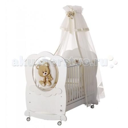 Baby Expert Abbracci by Trudi качалка  — 96960р. ---------------  Детская кроватка Baby Expert Abbracci by Trudi качалка разработала уникальное решение для детской, сочетающее уют и элегантность. Теперь все предметы комнаты малыша – от кроватки до мягкого одеяльца – будут украшены очарованием и добротой медвежонка Trudi.   Медвежонок выполнен из мягкого плюша, который легко отстегивается от мебели и стирается. Мягкая игрушка и нежные кремовые или белоснежные тона мебели придают детской…