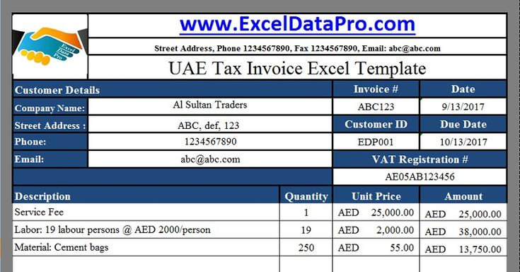 Download UAE VAT Payable Calculator Excel Template UAE VAT - credit note template