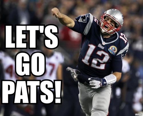 A ton at stake. A big rematch. Playoffs. Homefield. Oh hellz yeah. LET'S GO PATS!!!!!!!