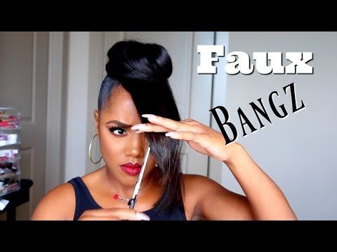 How To Make Your Own Faux Bangs - Urban Gyal