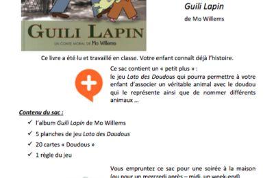 Sac à album Guili Lapin chez Pierrick