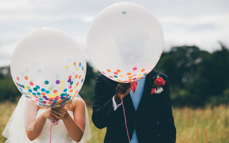 Gorgeous wedding confetti balloons