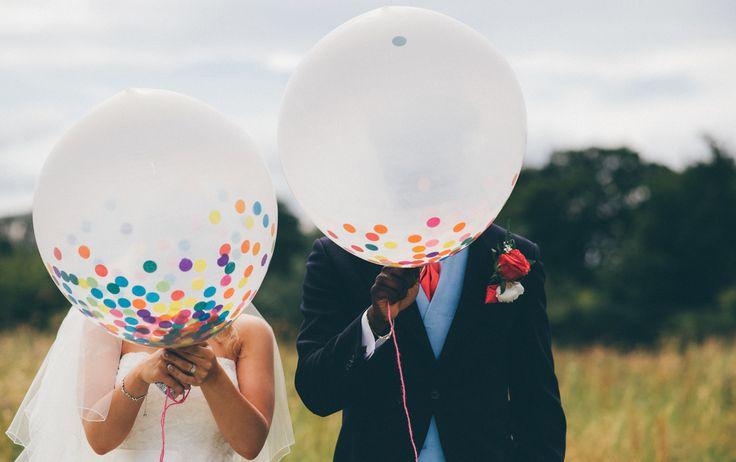 Gorgeous wedding confetti balloons