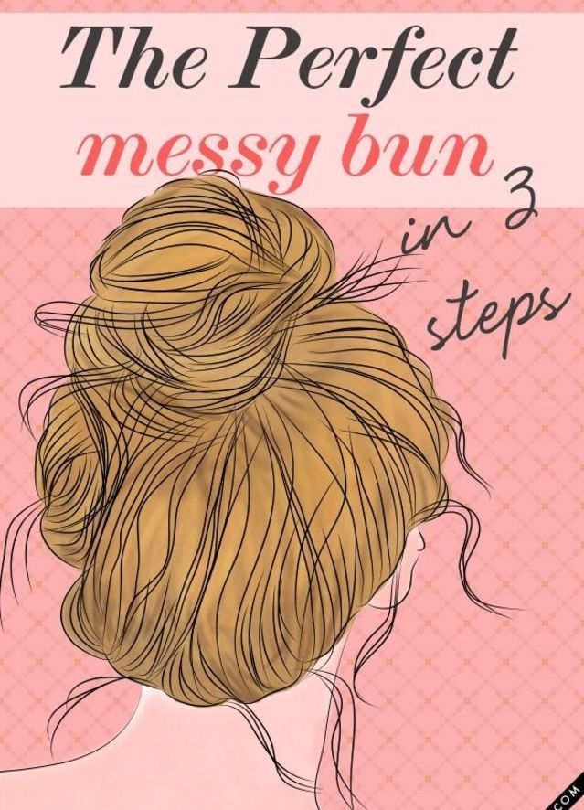 Get the perfect messy bun in 3 steps