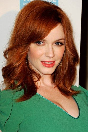 For always being confident with her beautiful curves and conforming to no-one, we L O V E Christina Hendricks.