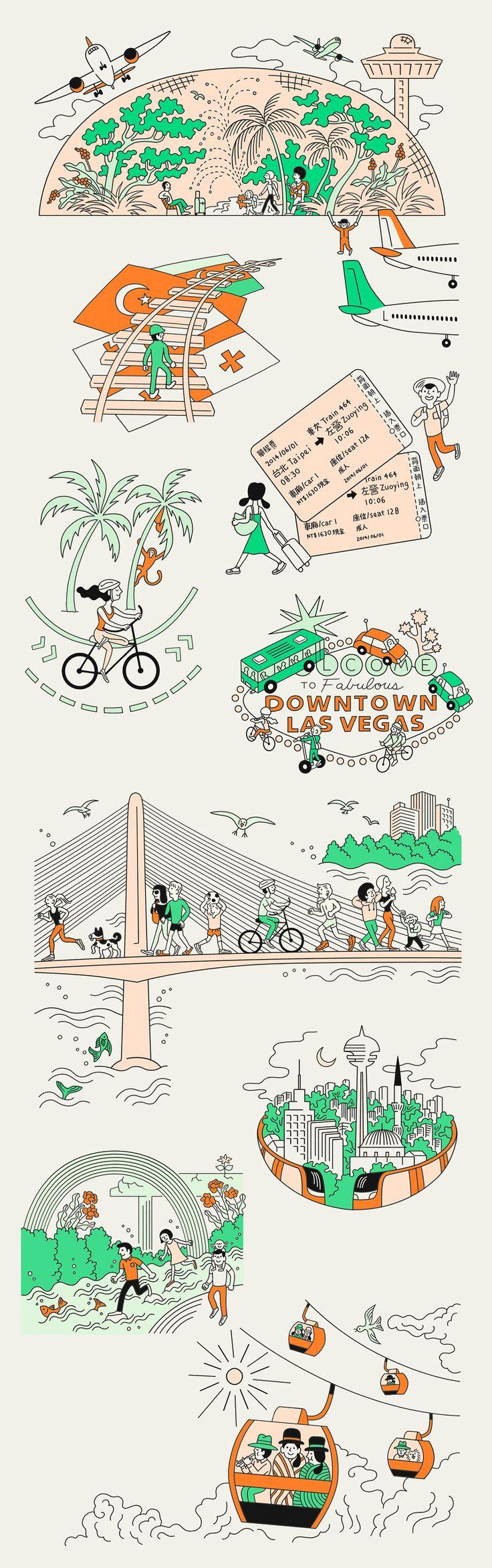 10 illustrations about transportation infrastructures © 2014 ::: Monocle Magazine 74 - ♨ Tomi Um ♨