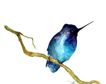 Items similar to Two birds, Watercolor painting, GICLEE fine art ...