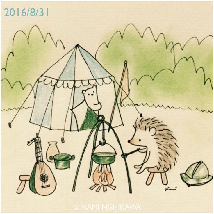 Medieval Camping illustration by Nami Nishikawa