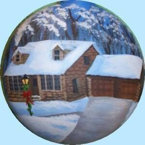 Hand_Painted_Christmas_Ornaments_Personalised_House_Portraits