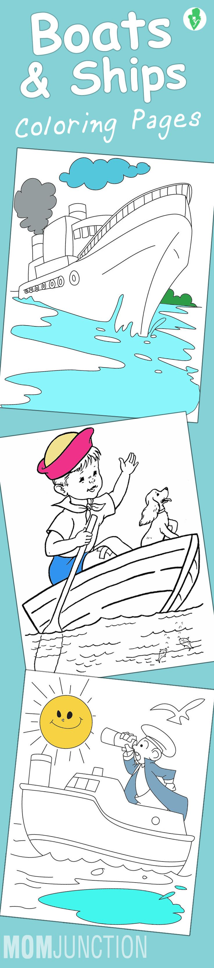 10 Best Boats And Ships Coloring Pages For Your Little Ones: Boats and ships have vast history and can be taught in interesting ways to your kid if he simply takes the initiative of coloring them!