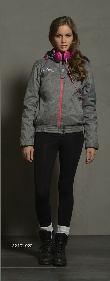Ladies' short jacket with detachable hood & boa fur quality inner side of hood. www.biston.gr