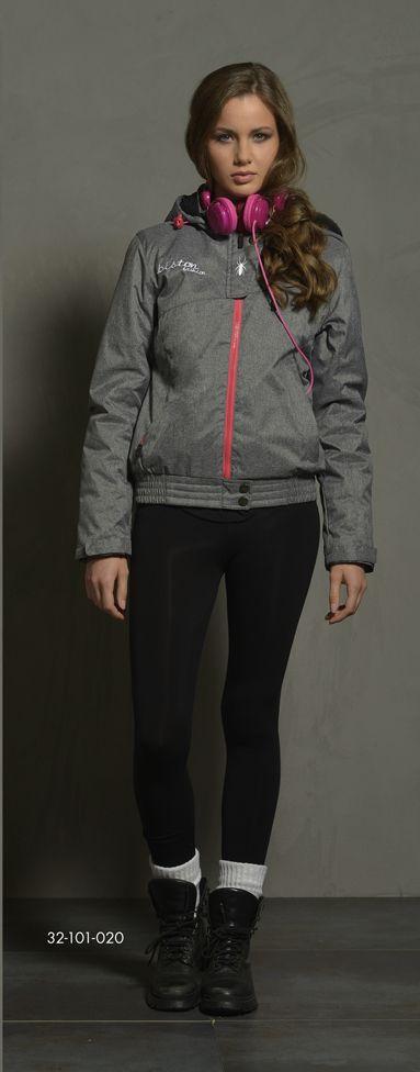 Ladies' short jacket with detachable hood & boa fur quality inner side of hood. www.biston.gr
