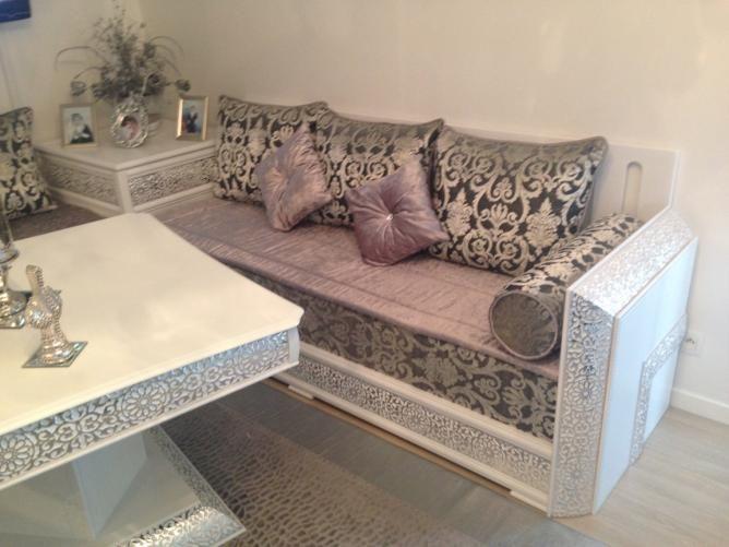 Populaire Les 25 meilleures idées de la catégorie Salon marocain blanc sur  KR59
