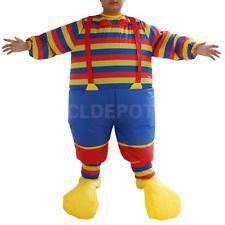 Novelty Funny Clown Suit Inflatable Blow Up Men Costume Fancy Dress Fat Suit